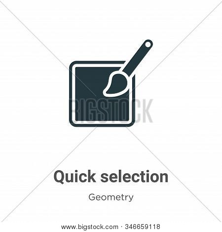 Quick selection icon isolated on white background from geometry collection. Quick selection icon tre