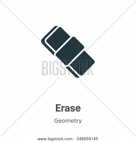 Erase Glyph Icon Vector On White Background. Flat Vector Erase Icon Symbol Sign From Modern Geometry