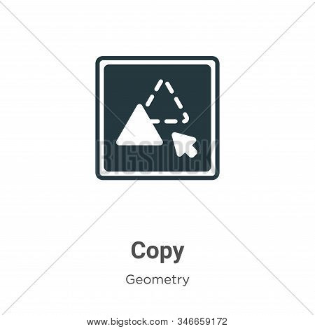 Copy icon isolated on white background from geometry collection. Copy icon trendy and modern Copy sy