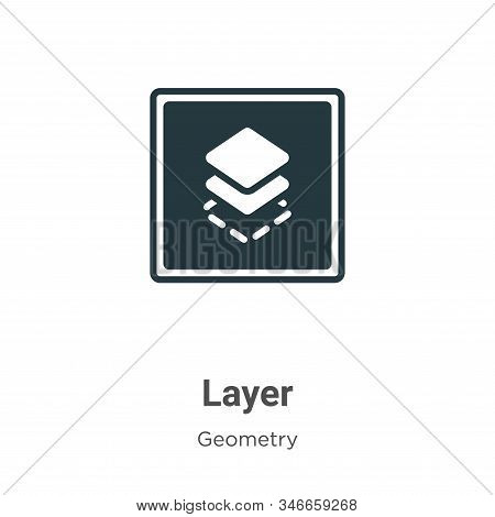 Layer icon isolated on white background from geometry collection. Layer icon trendy and modern Layer