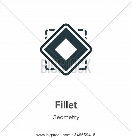 Fillet icon isolated on white background from geometry collection. Fillet icon trendy and modern Fil