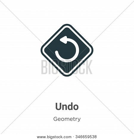 Undo icon isolated on white background from geometry collection. Undo icon trendy and modern Undo sy