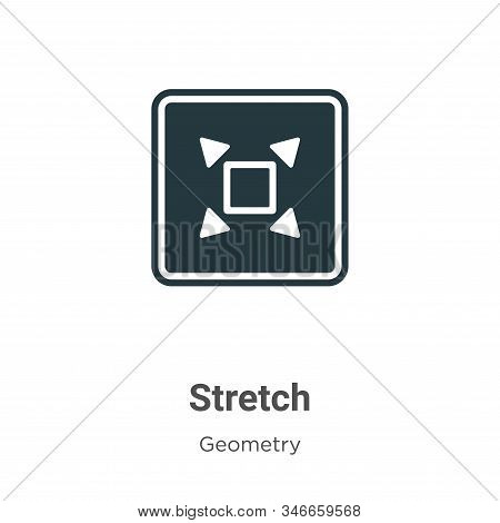 Stretch icon isolated on white background from geometry collection. Stretch icon trendy and modern S