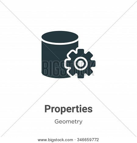 Properties icon isolated on white background from geometry collection. Properties icon trendy and mo