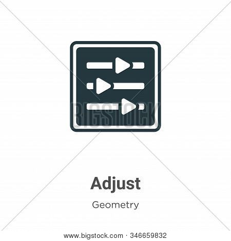 Adjust icon isolated on white background from geometry collection. Adjust icon trendy and modern Adj