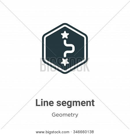 Line segment icon isolated on white background from geometry collection. Line segment icon trendy an
