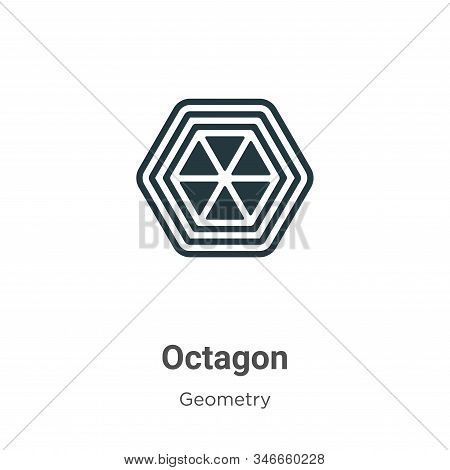 Octagon icon isolated on white background from geometry collection. Octagon icon trendy and modern O
