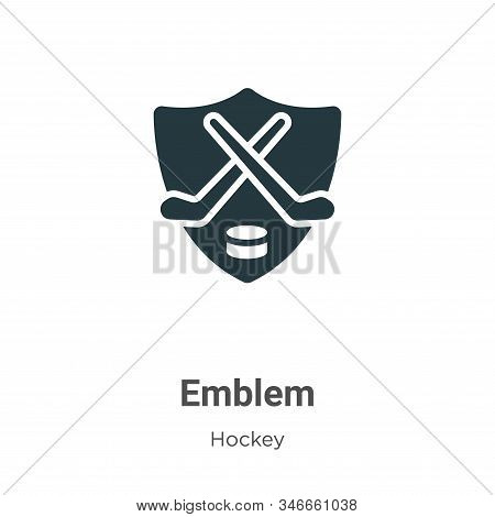 Emblem icon isolated on white background from hockey collection. Emblem icon trendy and modern Emble
