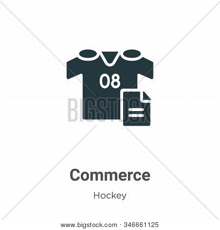 Commerce icon isolated on white background from hockey collection. Commerce icon trendy and modern C