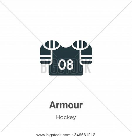 Armour icon isolated on white background from hockey collection. Armour icon trendy and modern Armou