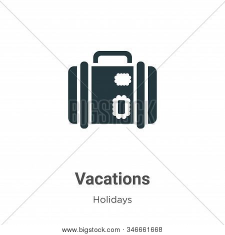 Vacations icon isolated on white background from holidays collection. Vacations icon trendy and mode