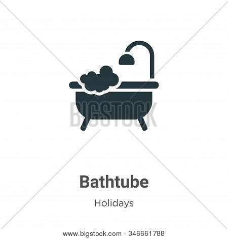 Bathtube icon isolated on white background from holidays collection. Bathtube icon trendy and modern