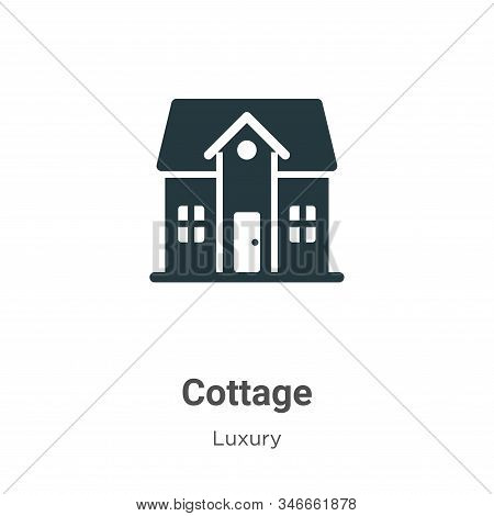 Cottage Glyph Icon Vector On White Background. Flat Vector Cottage Icon Symbol Sign From Modern Luxu