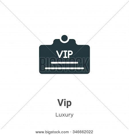 Vip icon isolated on white background from luxury collection. Vip icon trendy and modern Vip symbol