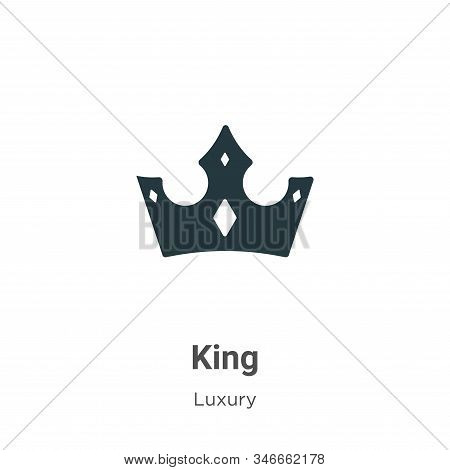 King icon isolated on white background from luxury collection. King icon trendy and modern King symb