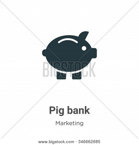 Pig bank icon isolated on white background from marketing collection. Pig bank icon trendy and moder