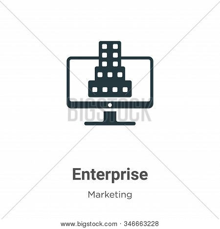 Enterprise icon isolated on white background from marketing collection. Enterprise icon trendy and m