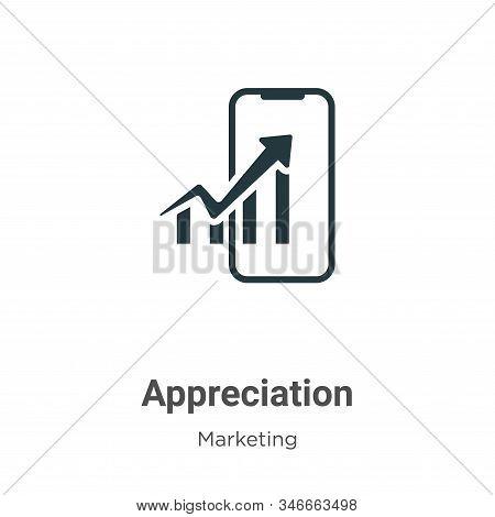 Appreciation Glyph Icon Vector On White Background. Flat Vector Appreciation Icon Symbol Sign From M