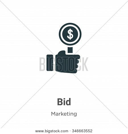 Bid icon isolated on white background from marketing collection. Bid icon trendy and modern Bid symb
