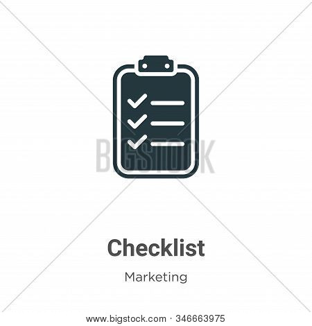 Checklist icon isolated on white background from marketing collection. Checklist icon trendy and mod