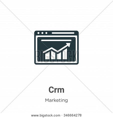 Crm icon isolated on white background from marketing collection. Crm icon trendy and modern Crm symb