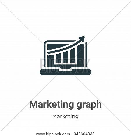 Marketing graph icon isolated on white background from marketing collection. Marketing graph icon tr
