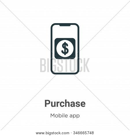 Purchase icon isolated on white background from mobile app collection. Purchase icon trendy and mode