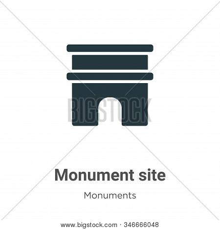 Monument Site Glyph Icon Vector On White Background. Flat Vector Monument Site Icon Symbol Sign From