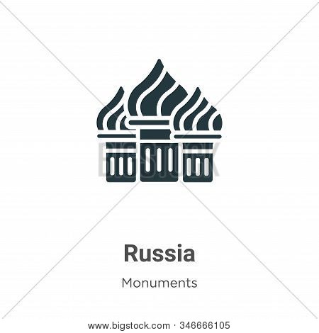 Russia icon isolated on white background from monuments collection. Russia icon trendy and modern Ru
