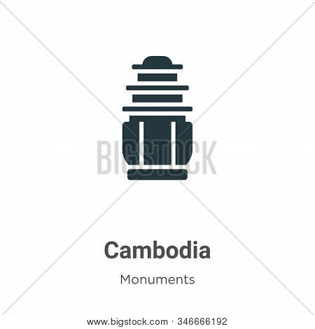 Cambodia icon isolated on white background from monuments collection. Cambodia icon trendy and moder