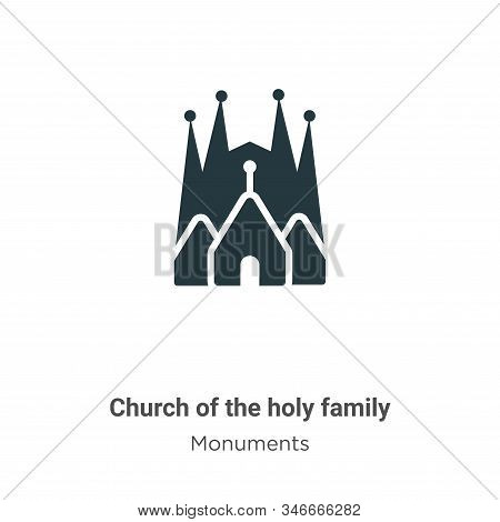 Church of the holy family icon isolated on white background from monuments collection. Church of the