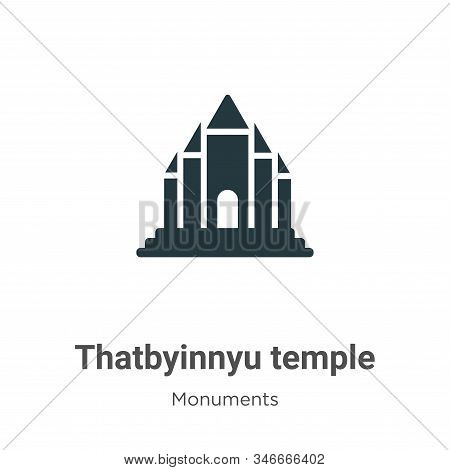 Thatbyinnyu temple icon isolated on white background from monuments collection. Thatbyinnyu temple i