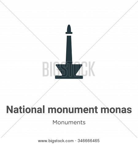 National monument monas icon isolated on white background from monuments collection. National monume