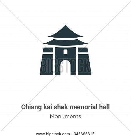 Chiang Kai Shek Memorial Hall Glyph Icon Vector On White Background. Flat Vector Chiang Kai Shek Mem