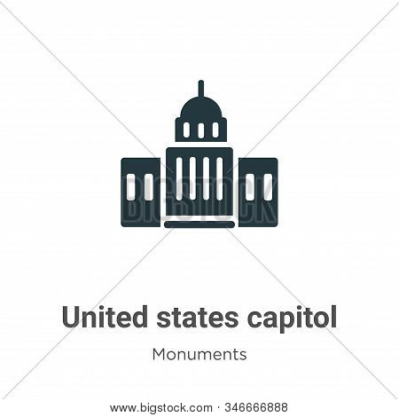 United states capitol icon isolated on white background from monuments collection. United states cap