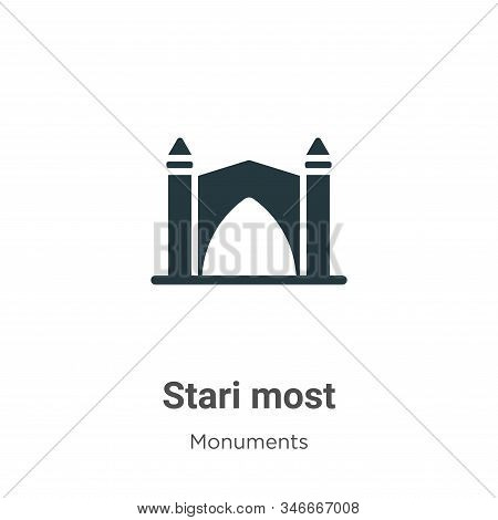 Stari most icon isolated on white background from monuments collection. Stari most icon trendy and m