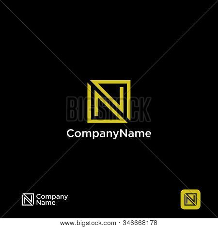 N Logo, N Logo Design, Initial N Logo, Circle N Logo, Real Estate Logo,  Letter N Logo, Creat Save D