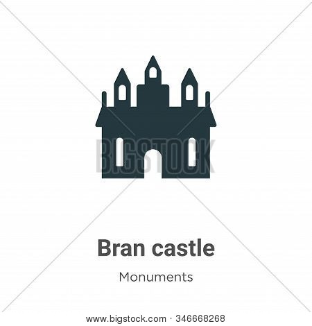 Bran castle icon isolated on white background from monuments collection. Bran castle icon trendy and
