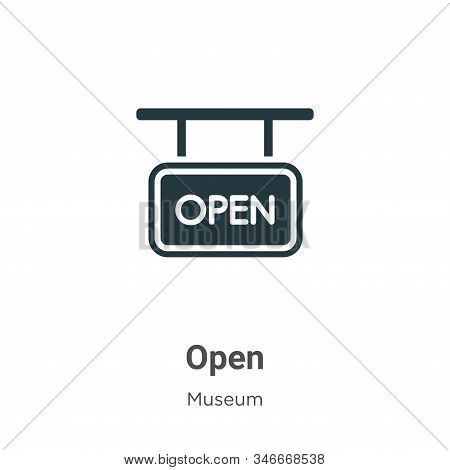 Open icon isolated on white background from museum collection. Open icon trendy and modern Open symb