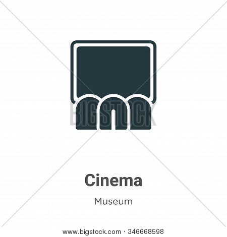 Cinema icon isolated on white background from museum collection. Cinema icon trendy and modern Cinem