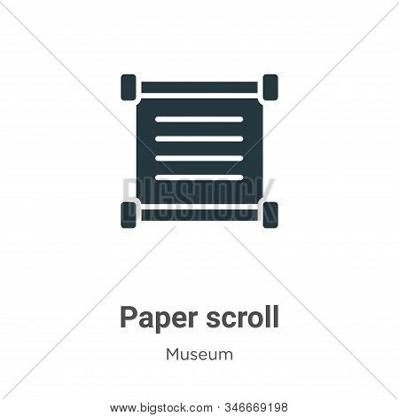 Paper Scroll Glyph Icon Vector On White Background. Flat Vector Paper Scroll Icon Symbol Sign From M