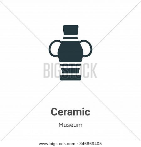 Ceramic icon isolated on white background from museum collection. Ceramic icon trendy and modern Cer