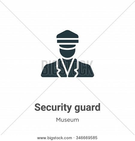 Security Guard Glyph Icon Vector On White Background. Flat Vector Security Guard Icon Symbol Sign Fr