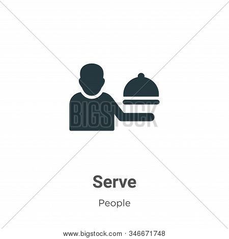 Serve Glyph Icon Vector On White Background. Flat Vector Serve Icon Symbol Sign From Modern People C