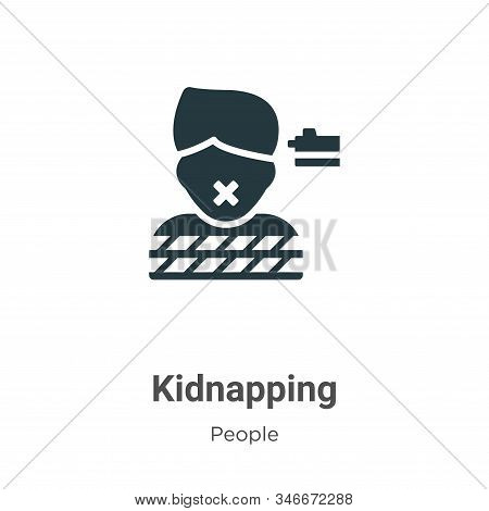 Kidnapping Glyph Icon Vector On White Background. Flat Vector Kidnapping Icon Symbol Sign From Moder