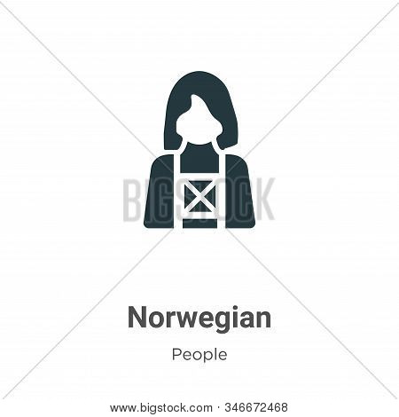 Norwegian icon isolated on white background from people collection. Norwegian icon trendy and modern