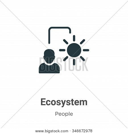 Ecosystem icon isolated on white background from people collection. Ecosystem icon trendy and modern