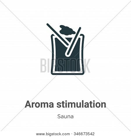 Aroma Stimulation Glyph Icon Vector On White Background. Flat Vector Aroma Stimulation Icon Symbol S