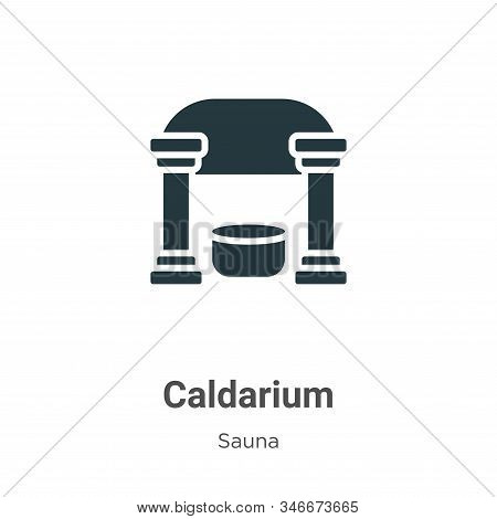 Caldarium Glyph Icon Vector On White Background. Flat Vector Caldarium Icon Symbol Sign From Modern