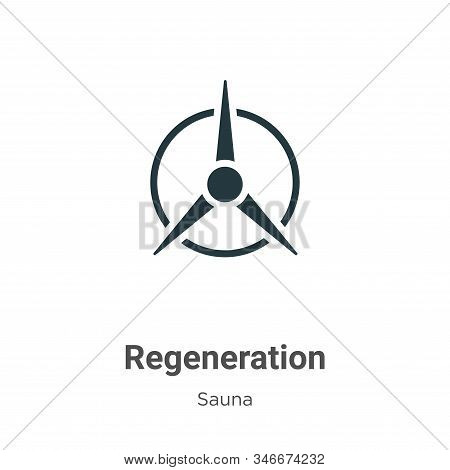 Regeneration icon isolated on white background from sauna collection. Regeneration icon trendy and m
